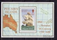 PITCAIRN ISLANDS, LADJE, JADRNICE, BLOK MI.9  1988
