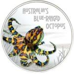 Deadly & Dangerous - Blue-Ringed Octopus 1oz 2008 PROOF