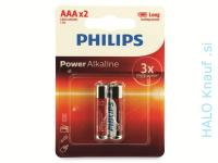 2X BATERIJA PHILIPS AAA – ALKALNA POWER AKCIJA