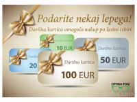 OPTIKA TOM, DARILNI BON ZA 100€, PODARIM 30€!!
