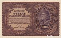 BANK.1000 MAREK (DRUGA POLJSKA REPUBLIKA)1919.XF++