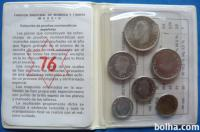 Španija 50 Centimos 1 - 100 Pesetas 1976 PROOF UNC set