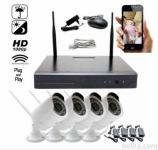 PLUG&PLAY WIFI VIDEO NADZORNI SISTEM KIT HD + 4X KAMERA HDMI