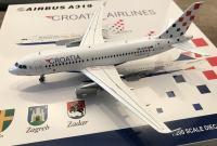 Maketa letalo 1/200 Airbus A319 Croatia Airlines,25 let,LIMIT. IZDELEK