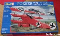 Maketa Fokker DR.1 I. Sv. rat