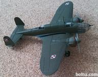 Metalni model avion PZL P-37 Los maketa 1/144 1:144