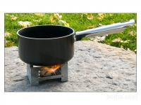 Esbit Folding Pocket Stove with Six Solid Fuel Burning Table