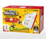 Nintendo 2DS bel + New Super Mario Bros 2 + Luma3DS + SD 4GB +...
