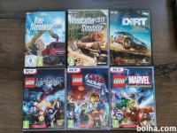 DIRT, LEGO MOVIE, LEGO MARVEL, LEGO HOBBIT, NEED FOR SPEED