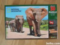3D puzzle National Geographic - sloni