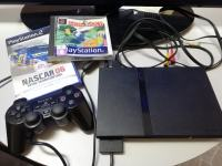 PLAYSTATION 2 slim (SCPH-70004), PS2, joypad + 2 igri