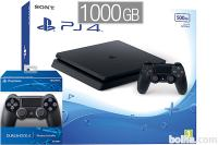 PlayStation 4 Slim 1000GB HDR VR Ready + 2x kontroler + bon 30€ ...