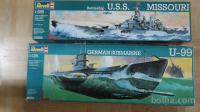 SUBMARINE U-99 1:125 - BATTLESHIP MISSOURI 1:535
