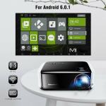 Wi-Fi brezžični video projektor SMART TV pametni Android box LED 3D HD