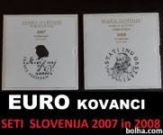 EURO KOVANCI set SLOVENIJA 2007 in 2008