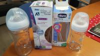 Nova steklenička flaška AVENT NATURAL 240ml in CHICCO WELL BEING 150ml