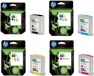 HP 88XL CMYK toner
