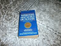 WEBSTERS NEWWORLD DICTIONARY