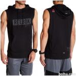REEBOK COMBAT Men's Sleeveless Hoodie Black AJ0771 Slim