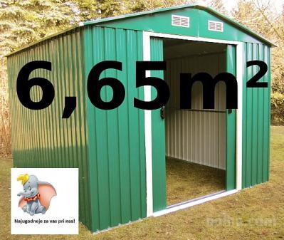 Vrtna kovinska hiška / uta za orodje 6,13 m² - zelena