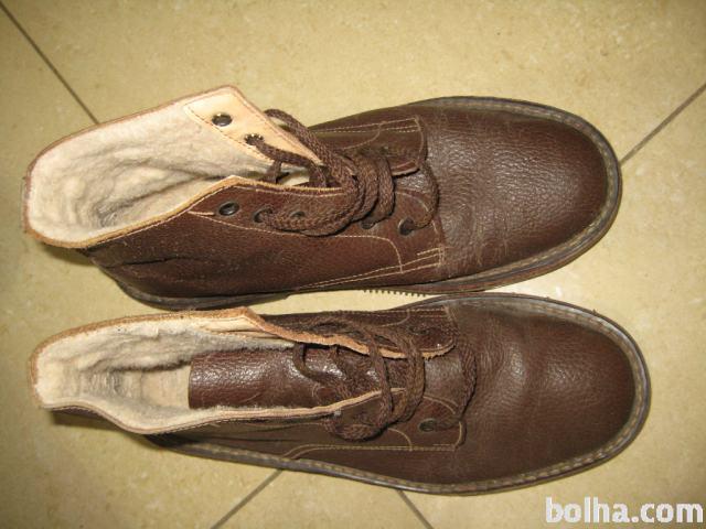 velikost 7 informacije za klasični slogi Moški zimski čevlji-gležnarji, usnjeni, rjavi, vel 41-42