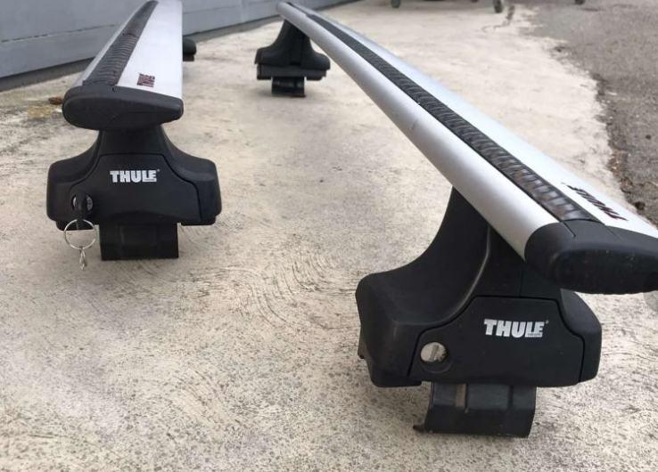 THULE wingbar 127 + noge rapid 754 s ključavnico + KIT 1644